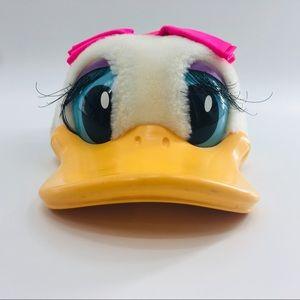 Disney Daisy Duck Snapback hat Plastic Visor Plush